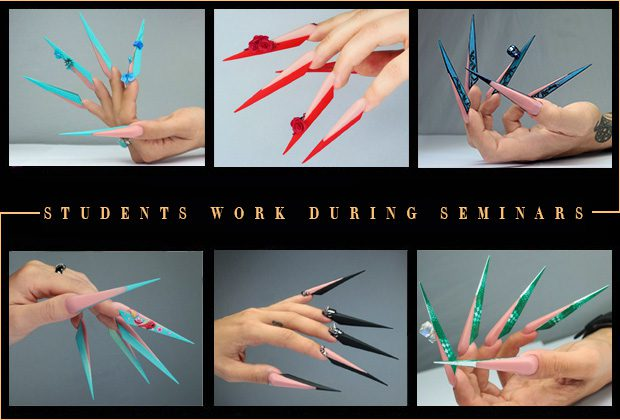 Extreme nail art educations students works